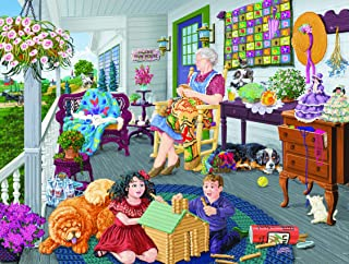 product image for A Visit to Grandma's 1000 pc Jigsaw Puzzle by SUNSOUT INC