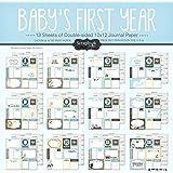 Scrapbook Customs Baby Boy First Months Scrapbooking Kit