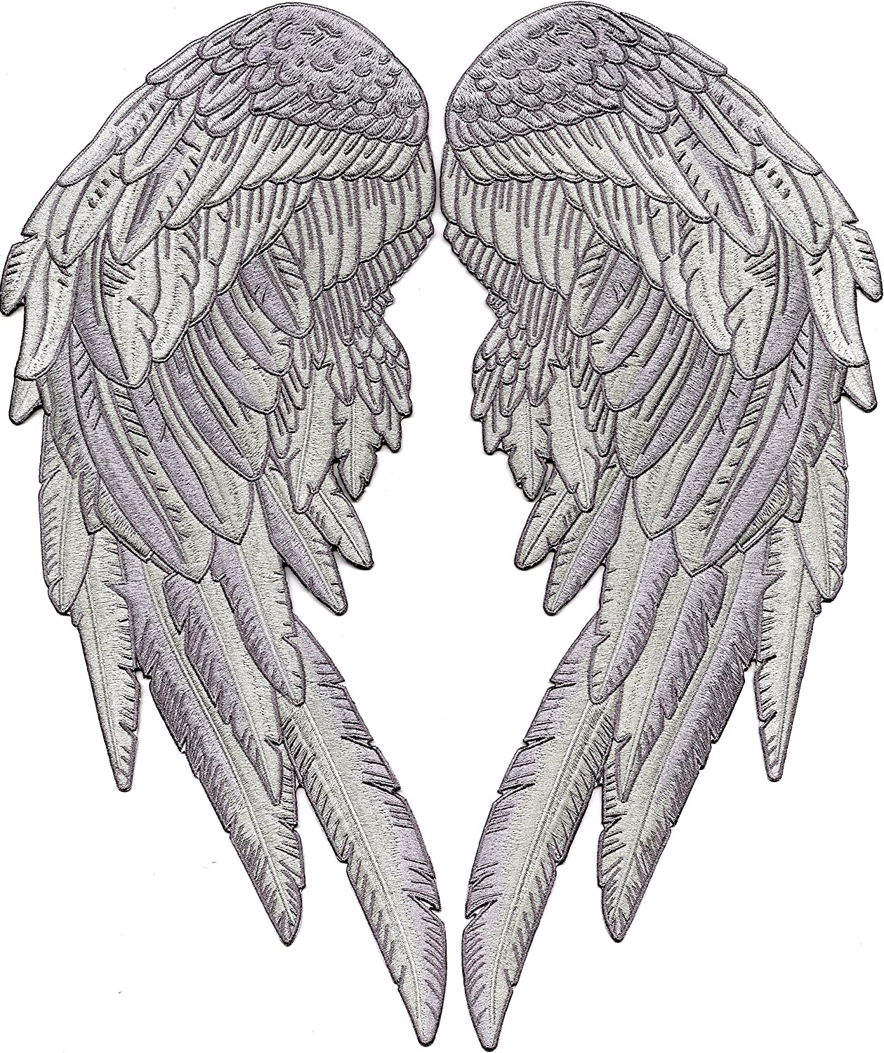 Small Size White Skull With Wings Patch