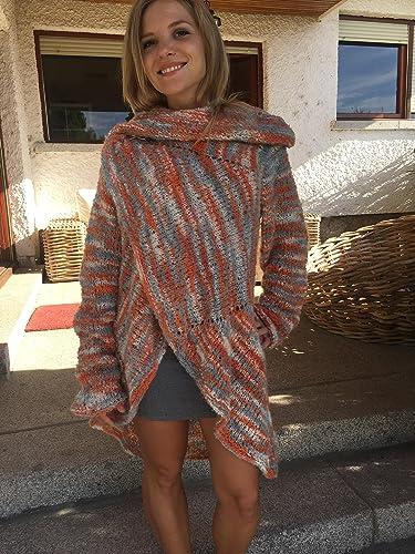 Cardigan, chaqueta o abrigo para primavera-otoño, de mohair y acrílico, muy