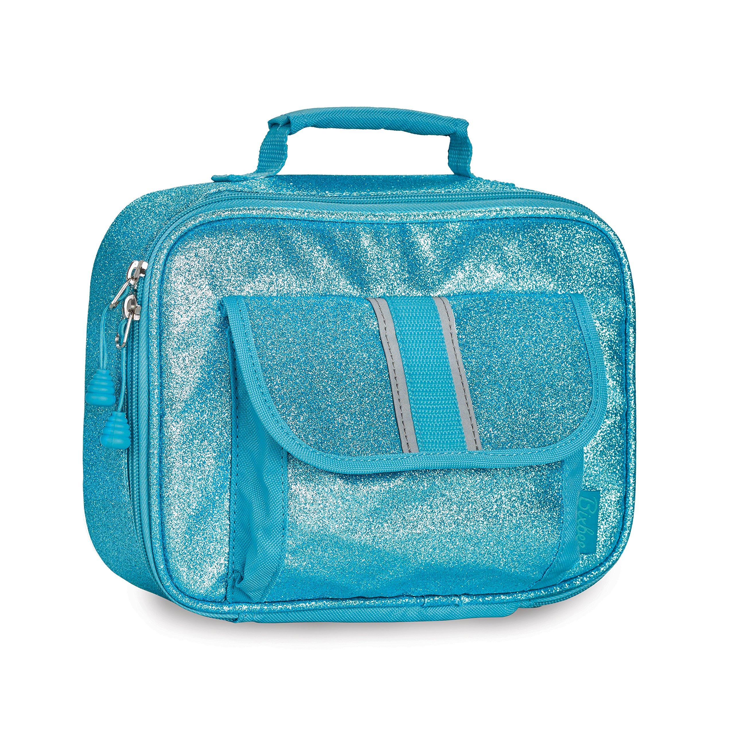 Bixbee Kids Insulated Lunchbox Sparkalicious Glitter, Blue