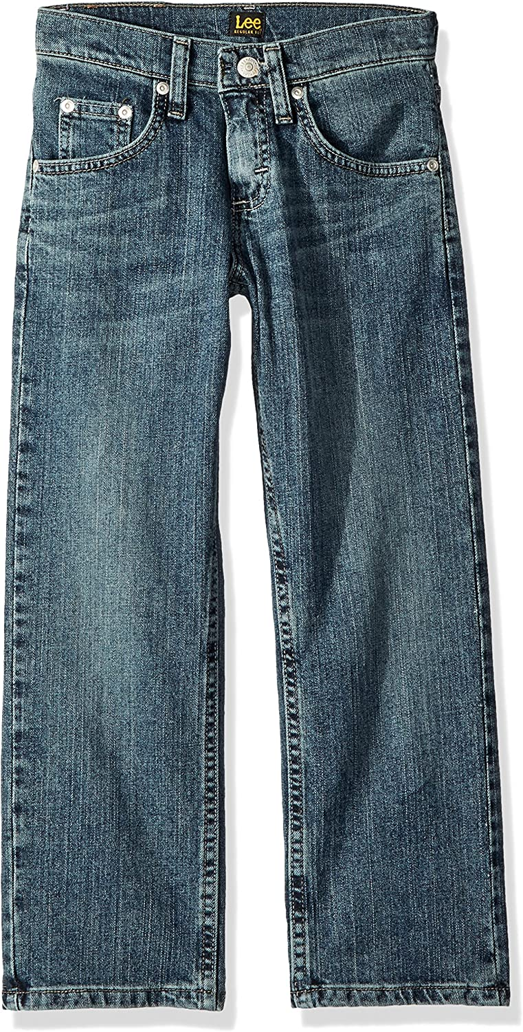 Lee Little Boys Premium Select Sure-2-Fit Straight Leg Pants 5, Dark Wash Jean
