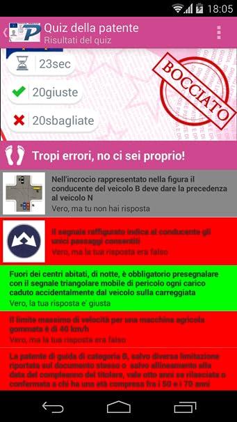 Amazon Com Mypatente Italian Driving License Quiz Appstore For