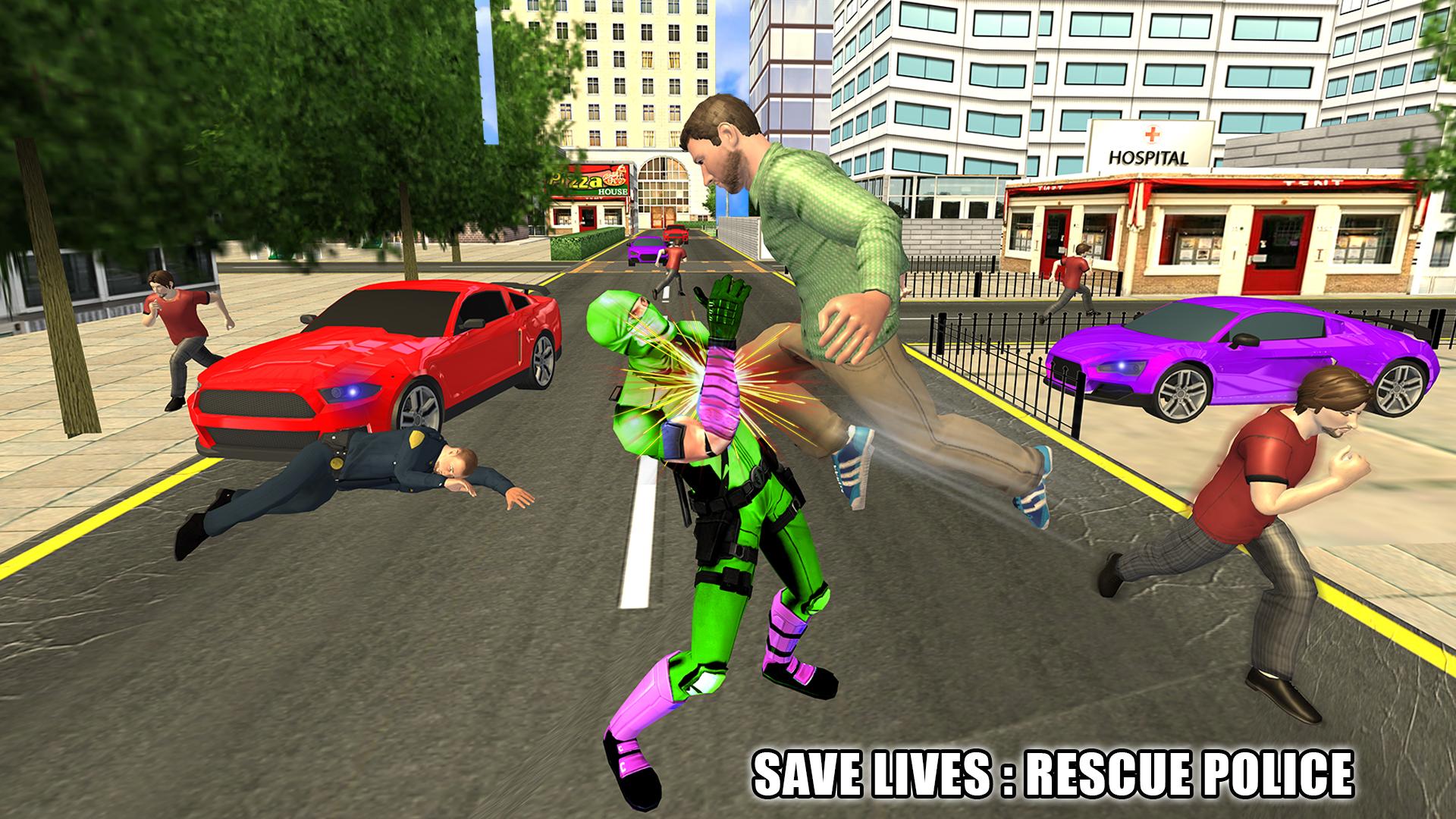 Flying Ninja Super Speed Hero Real Gangster Chase: Amazon.es ...