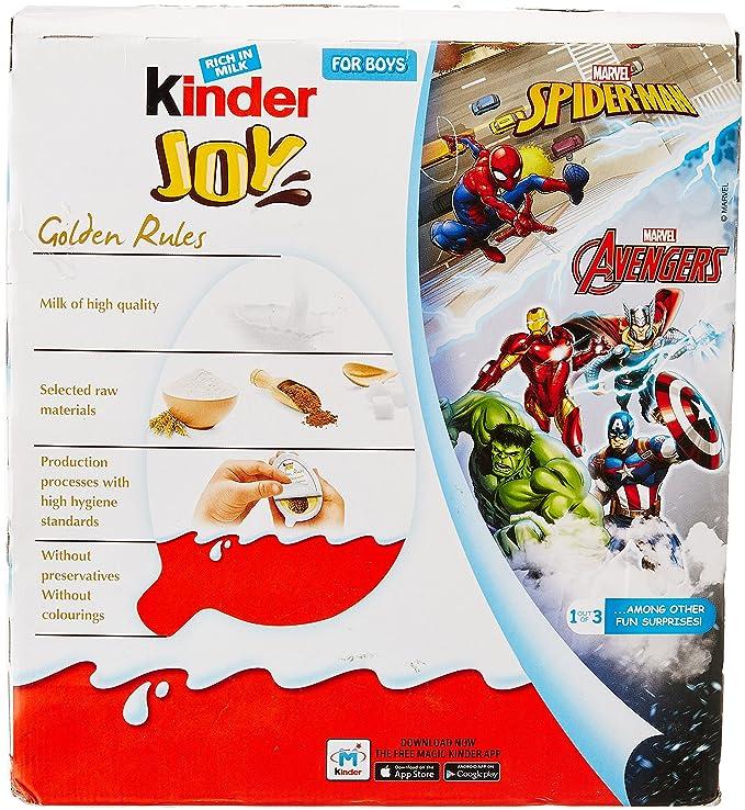 Kinder Joy Chocolates for Boys, 24 Pieces X 20g = 480g.: Amazon.in ...