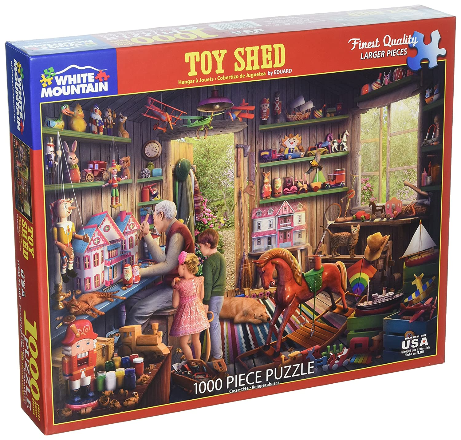 Amazon.com: White Mountain Puzzles Toy Shed - 1000 Piece Jigsaw Puzzle: Toys & Games
