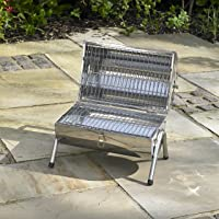Special Grill klein silber Exclusive Balkon Camping Picknick ✔ rund ✔ tragbar ✔ Grillen mit Holzkohle ✔ für den Tisch