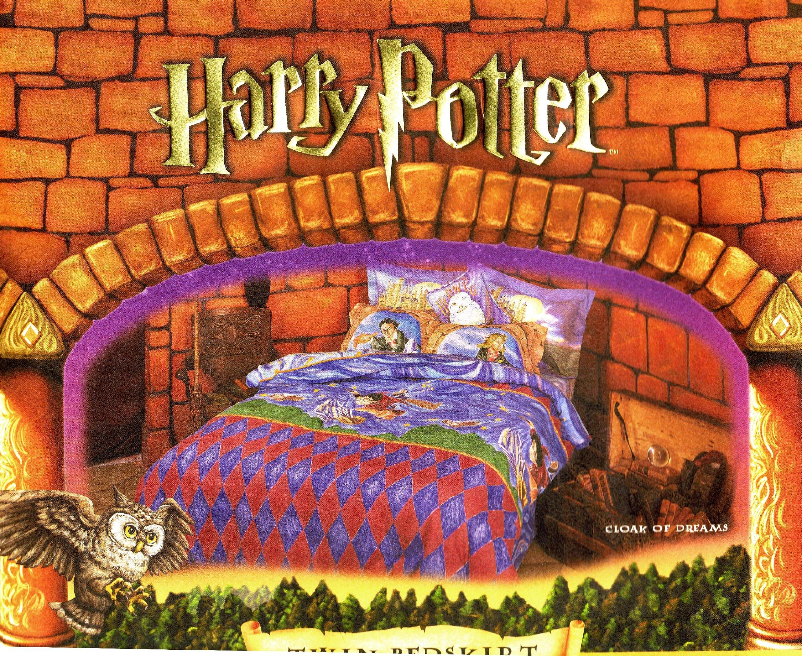 Harry Potter Twin Bedskirt Dust Ruffle ''Cloak of Dreams'' 2000