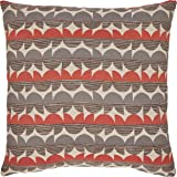 Amazon Brand – Rivet Mid-Century Graphic Throw Pillow - 17 x 17 Inch, Blue / Red
