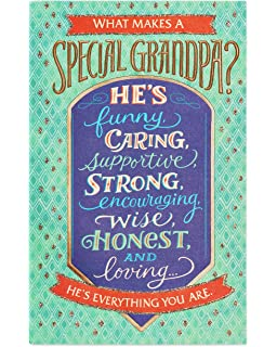 American Greetings Special Birthday Card For Grandpa With Glitter