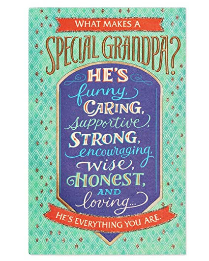 Amazon American Greetings Special Birthday Card For Grandpa With Glitter Office Products