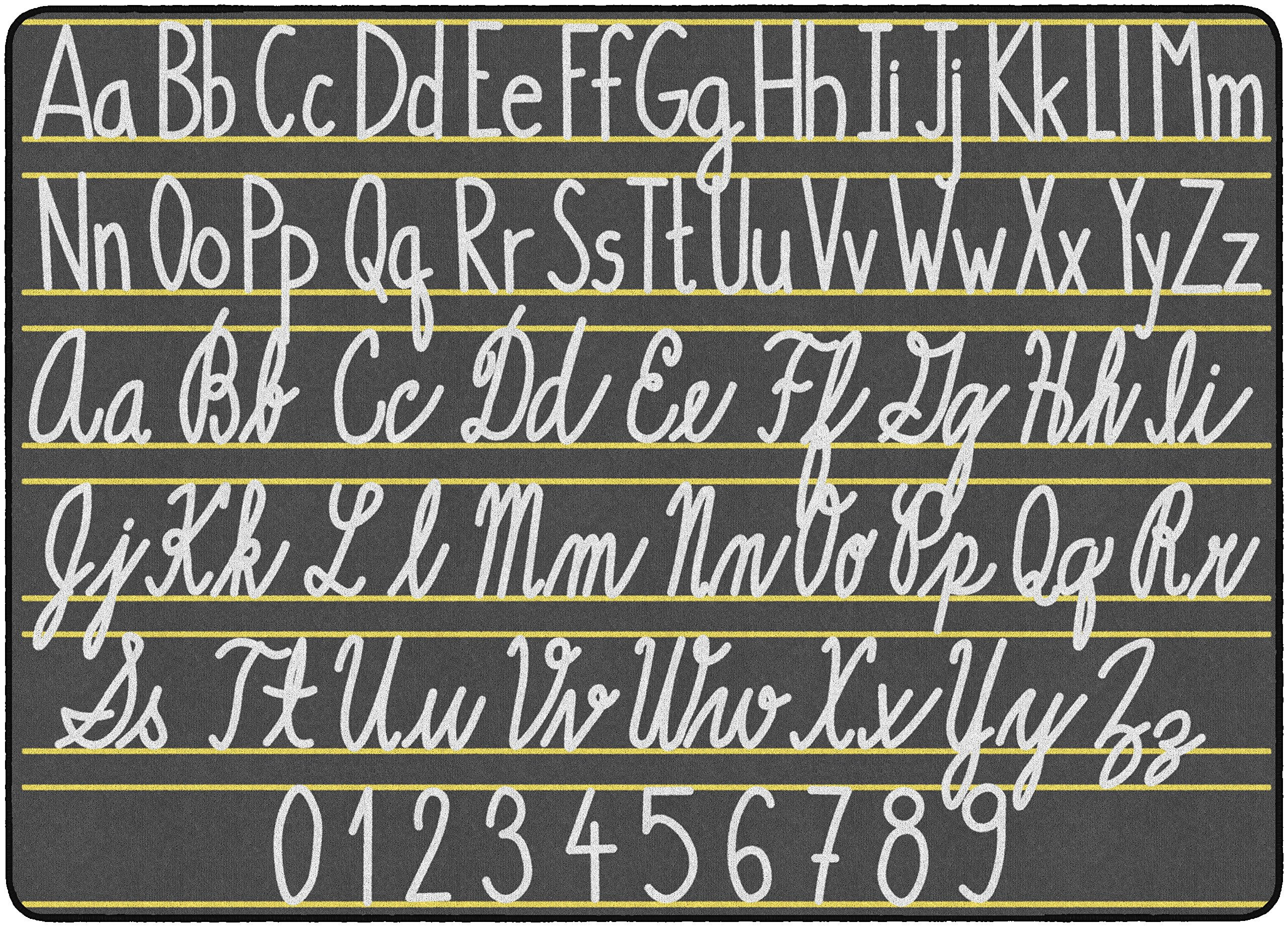 Flagship Carpets FE288-32A Handwriting Samplers, Children's Classroom Educational Rug, 6'x8'4'', Rectangle