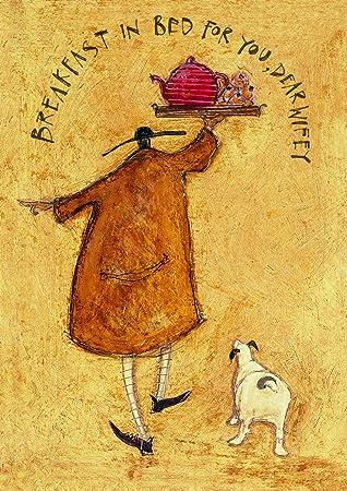 Tea for her majesty wife birthday card by sam toft st621 quot tea for her majesty quot wife birthday card by sam toft m4hsunfo