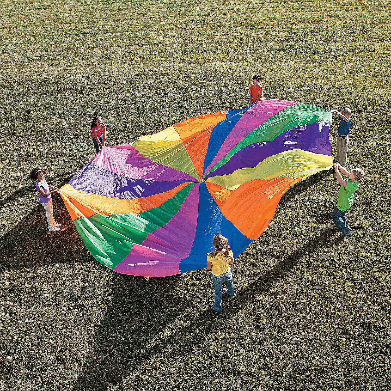 Fun Express - 20' Super Sturdy Parachute - Toys - Active Play - Recess & PE Play - 1 Piece by Fun Express
