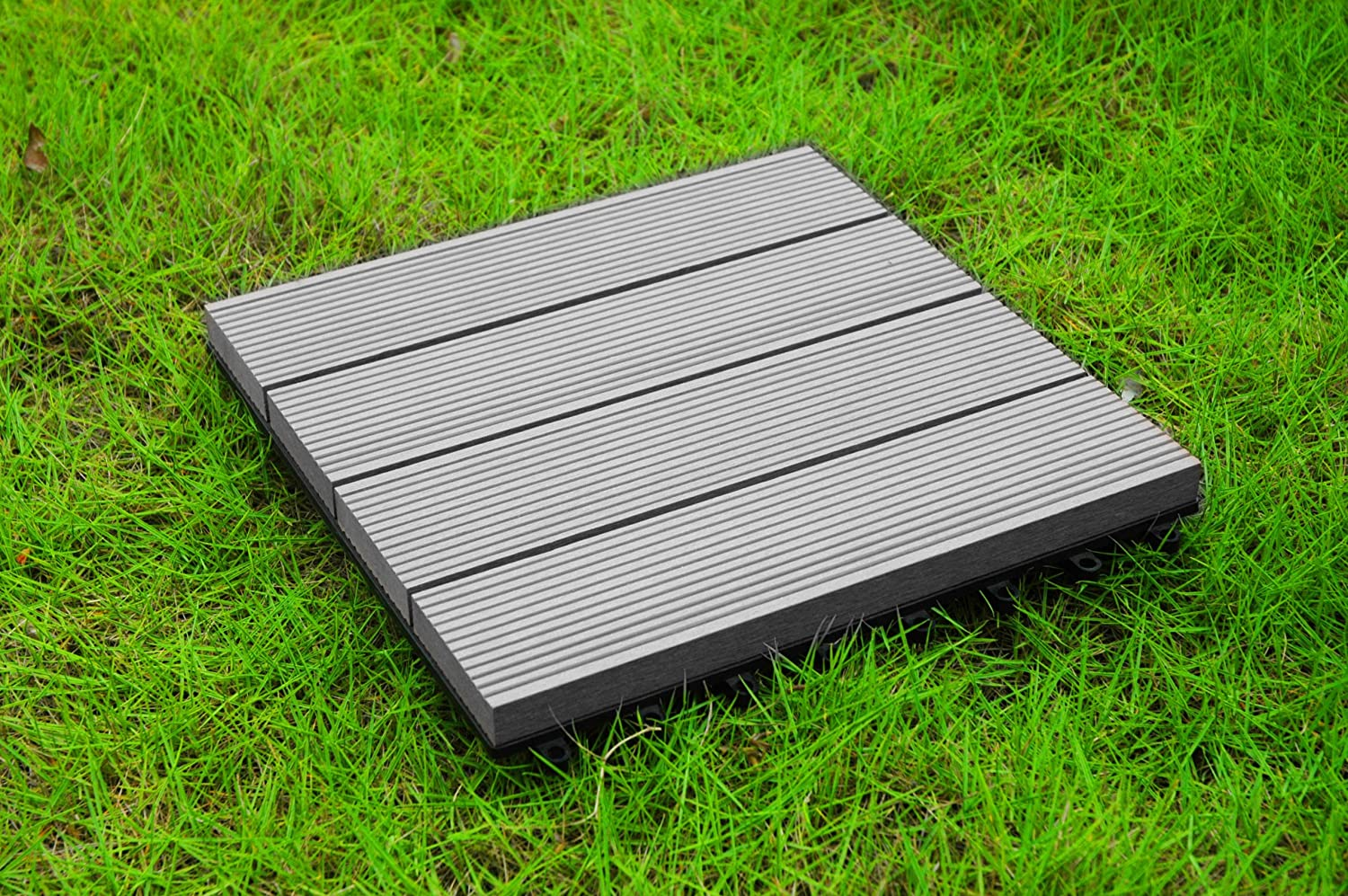 Build4eco century outdoor living diy outdoor patio deck tile build4eco century outdoor living diy outdoor patio deck tile interlocking decking tile composite wood deck flooring gray 4 slate style 10 tiles baanklon Image collections