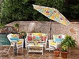 Pillow Perfect Outdoor Fresco Yellow Wicker Seat