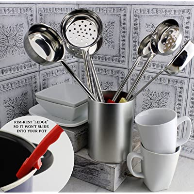 Buy Darware Portion Control Serving Spoons 6 Piece Ladle Set W 1 4 Cup 1 2 Cup 3 4 Cup 1 Cup 2 4 6 8 Ounce Slotted 1 2 1 Cup Utensils Spoodles Online In Indonesia B079vq1nwd