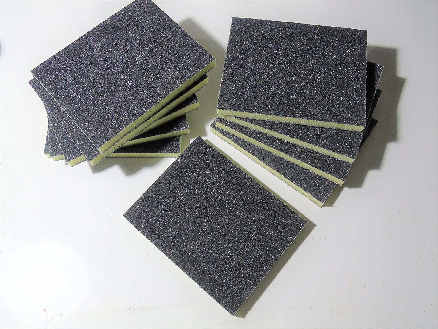 10 x Coarse Grit 60 Double Sided Wet and Dry Abrasive Sanding Sponge Pads Dom' s DIY Direct