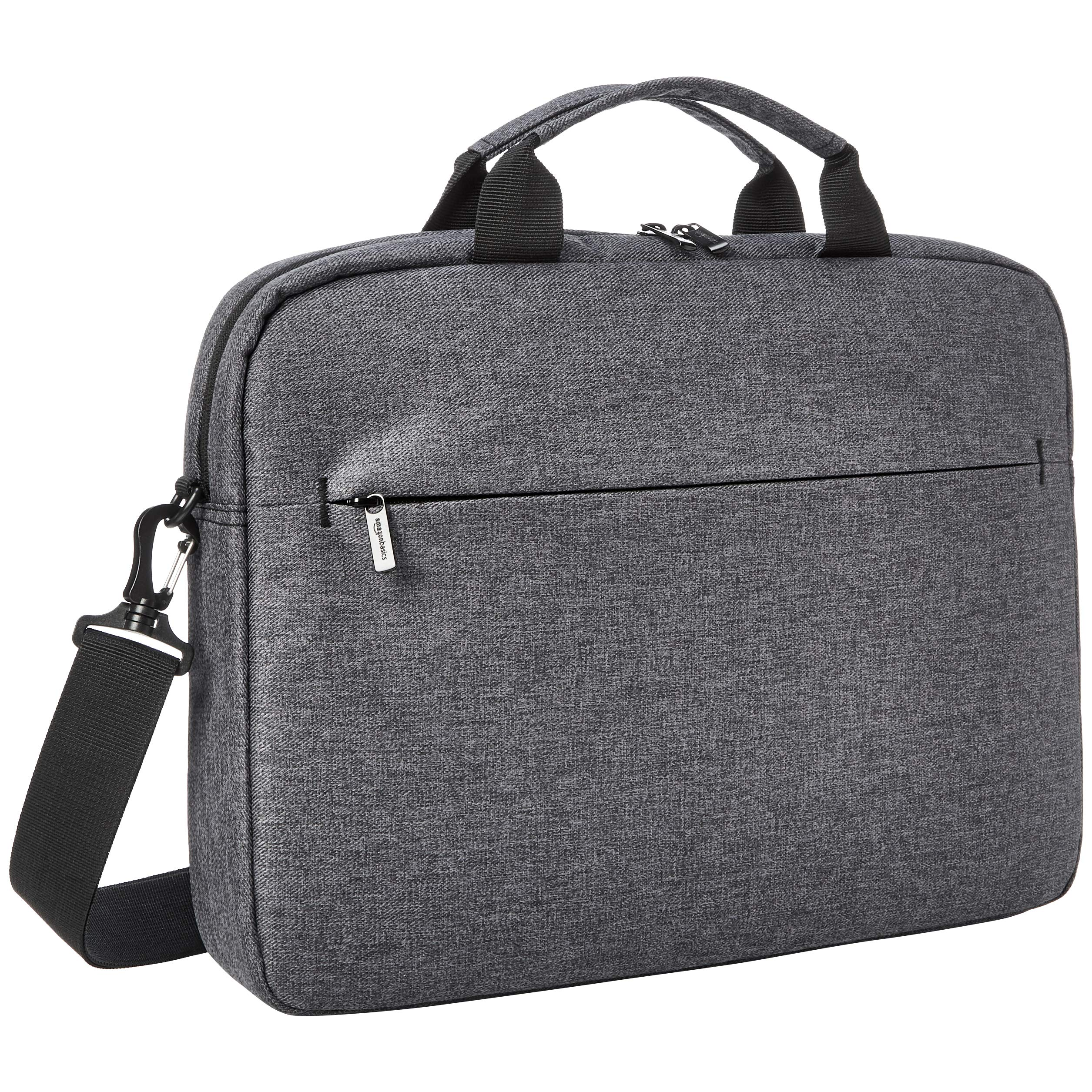 AmazonBasics Urban Laptop and Tablet Case Bag, 17 Inch, Grey