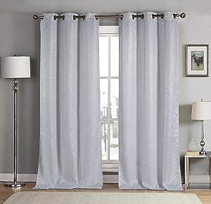 kensie Maddie Blackout Curtains White