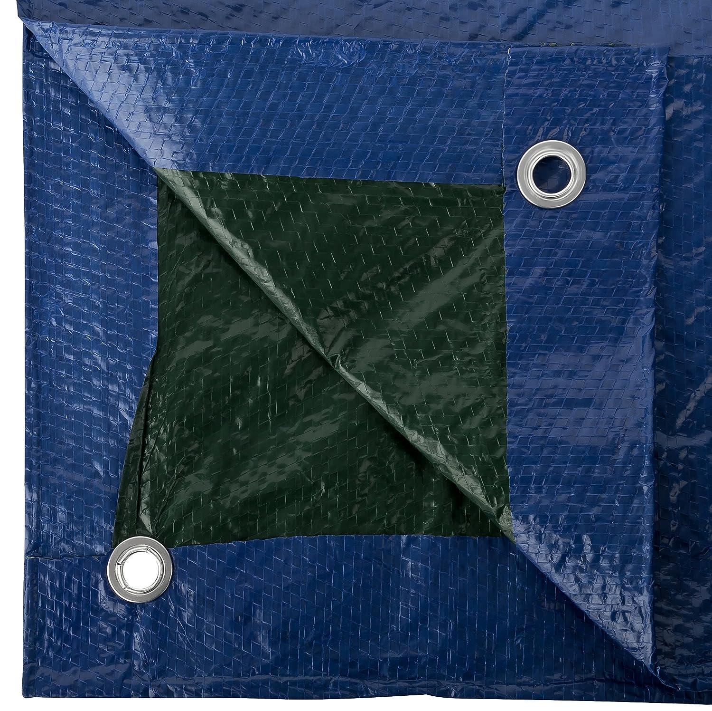 GardenMate 5x6m 90g//m/² Lona impermeable de protecci/ón Universal azul//verde Funda protectora Malla geotextil