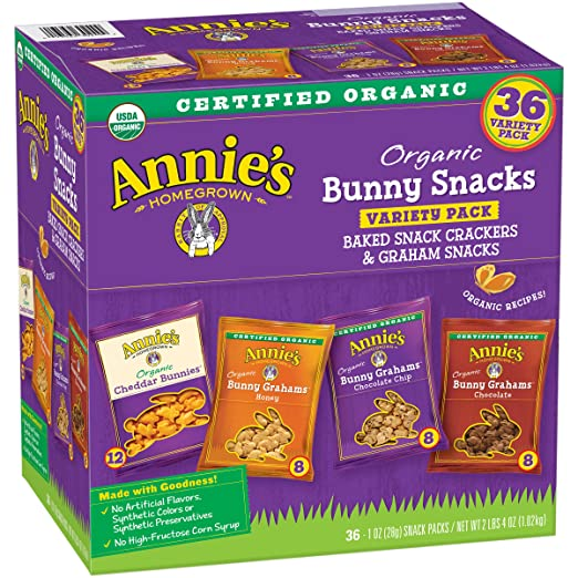 Annie's Cheddar Bunnies/Bunny Grahams Variety Pack 36-1 oz. Snack Packs
