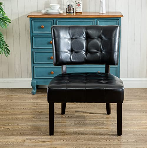 Editors' Choice: Roundhill Furniture Faux Leather Tufted Accent Chair