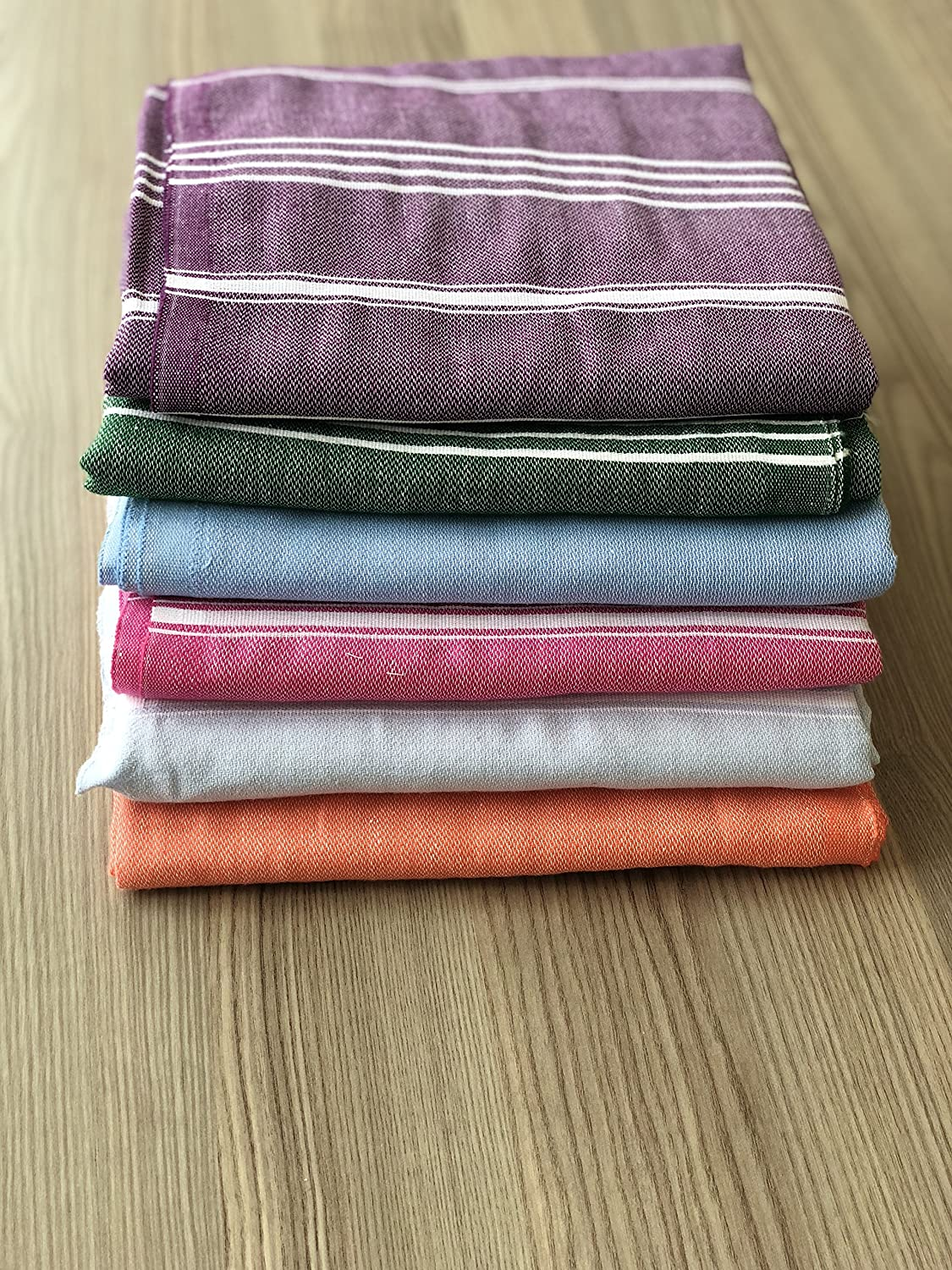 Sale Set of 6 XL Turkish Cotton Peshtemal Bath Beach Spa Sauna Hammam Gym Towel havluland BEG-2