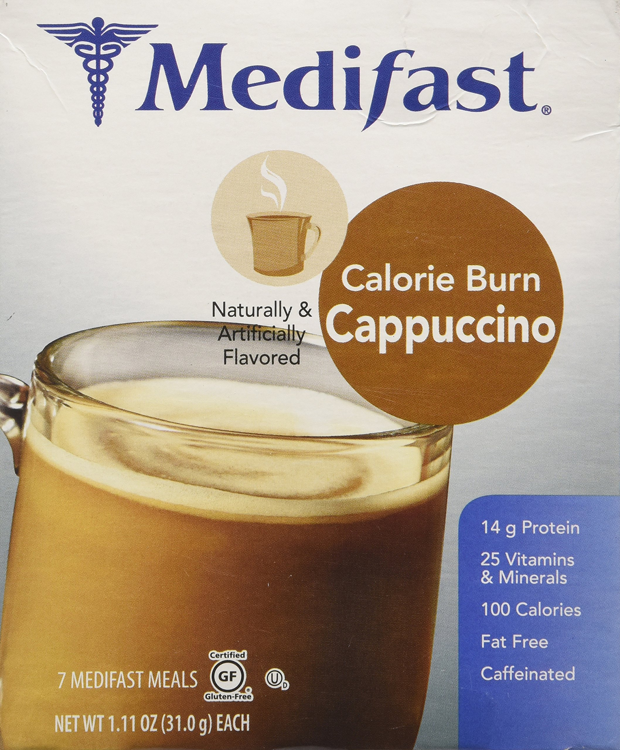 Medifast Essential Calorie Burn Cappuccino (1 Box/7 Meals)