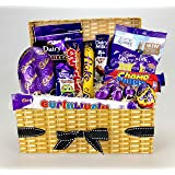 Happy Easter ! - Deluxe Cadbury Chocolate Hamper - • Easter Egg • Giant Buttons • Cream Egg • Crunchie • Flake • Mini Eggs • Dairy Milk Bar • Dairy Milk Freddo • Chomp • Fudge • Curly Wurly •
