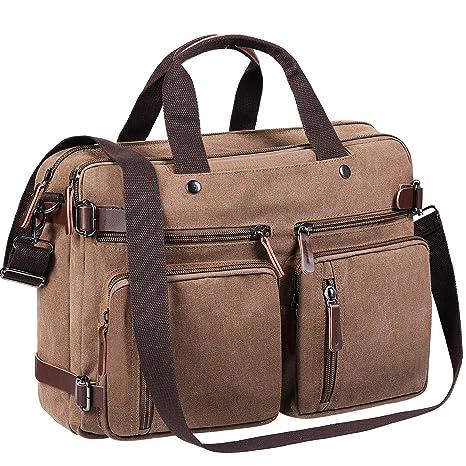 Tecool Travel Backpack Hombres, Portatil Convertible Mochila Bolsa de Mensajero Lona Bolso Bandolera Mujer Cartera