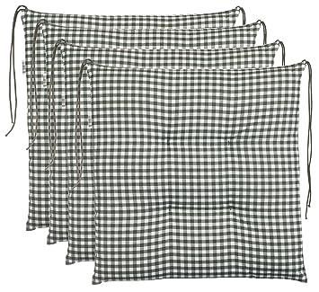 Sitzkissen Stuhlkissen 40x40 Auflage Polster Garten Baumwolle Punkte