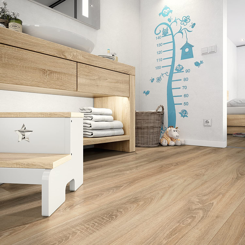 EGGER Home Designboden braun Klick Design Laminat robust Eiche massiv rauch EHD007 wasserfest und PVC frei strapazierf/ähig 5mm kompakt, 1,989 m/² pflegeleicht