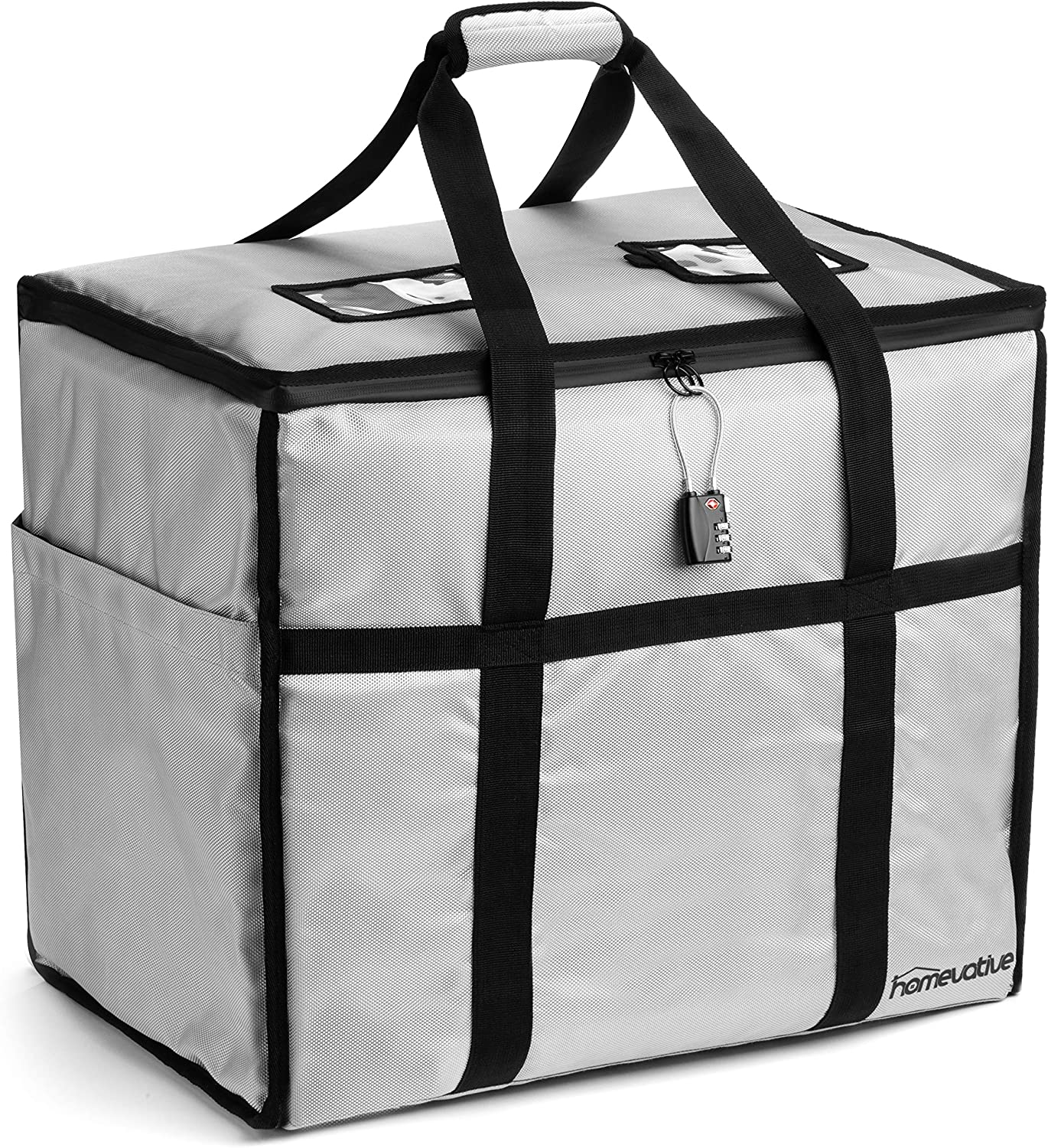 Homevative Locking Porch Delivery Bag for Groceries, Packages, Food Delivery, etc. 2 Combination Locks Included