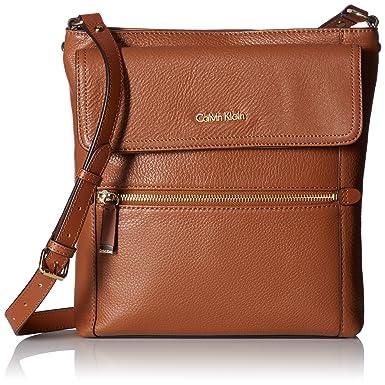 Calvin Klein Classic Pebble Crossbody, Luggage