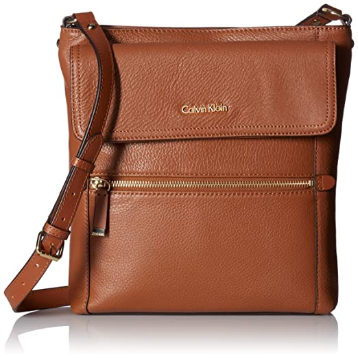 Calvin Klein Classic Pebble Crossbody, Luggage