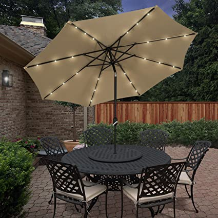 Lighted Umbrella For Patio Custom Amazon Best Choice Products 60' Deluxe Solar LED Lighted Patio