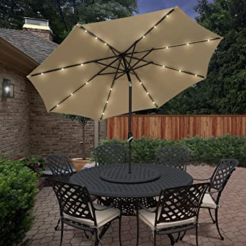 led usb products tilt portable adjustment patio w light umbrella power best bank solar charger
