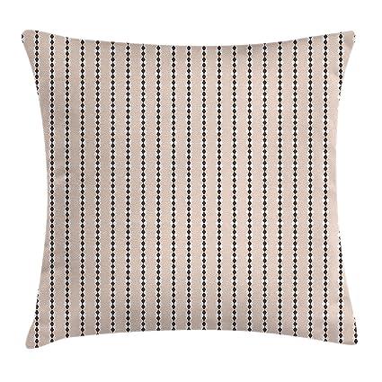 Amazon Com Ambesonne Geometric Throw Pillow Cushion Cover Peach