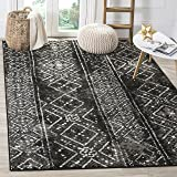 Safavieh Adirondack Collection ADR111C Black and Silver Contemporary Bohemian Distressed Area Rug (3' x 5')