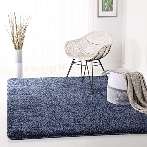 Safavieh California Premium Shag Collection SG151-7070 Area Rug, 8 x 10 , Navy