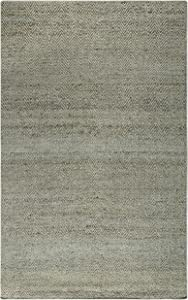 Rizzy Home Ellington Collection Jute/Wool Area Rug, 8' x 10', Blue/Gray/Rust/Blue Chevron