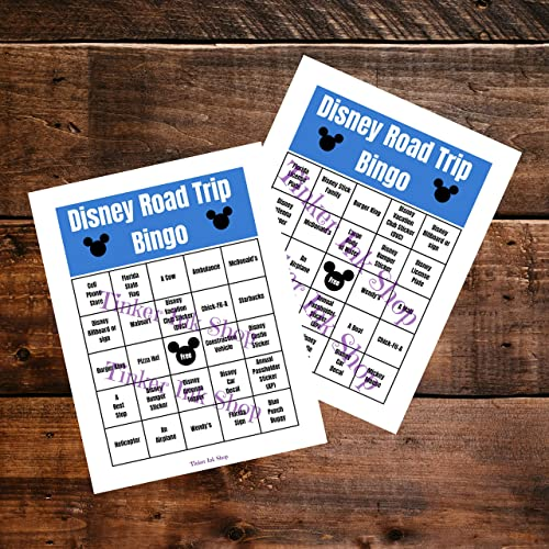 photo about Disney Bingo Printable named Disney Highway Family vacation Bingo Printable, Disney Worldwide -