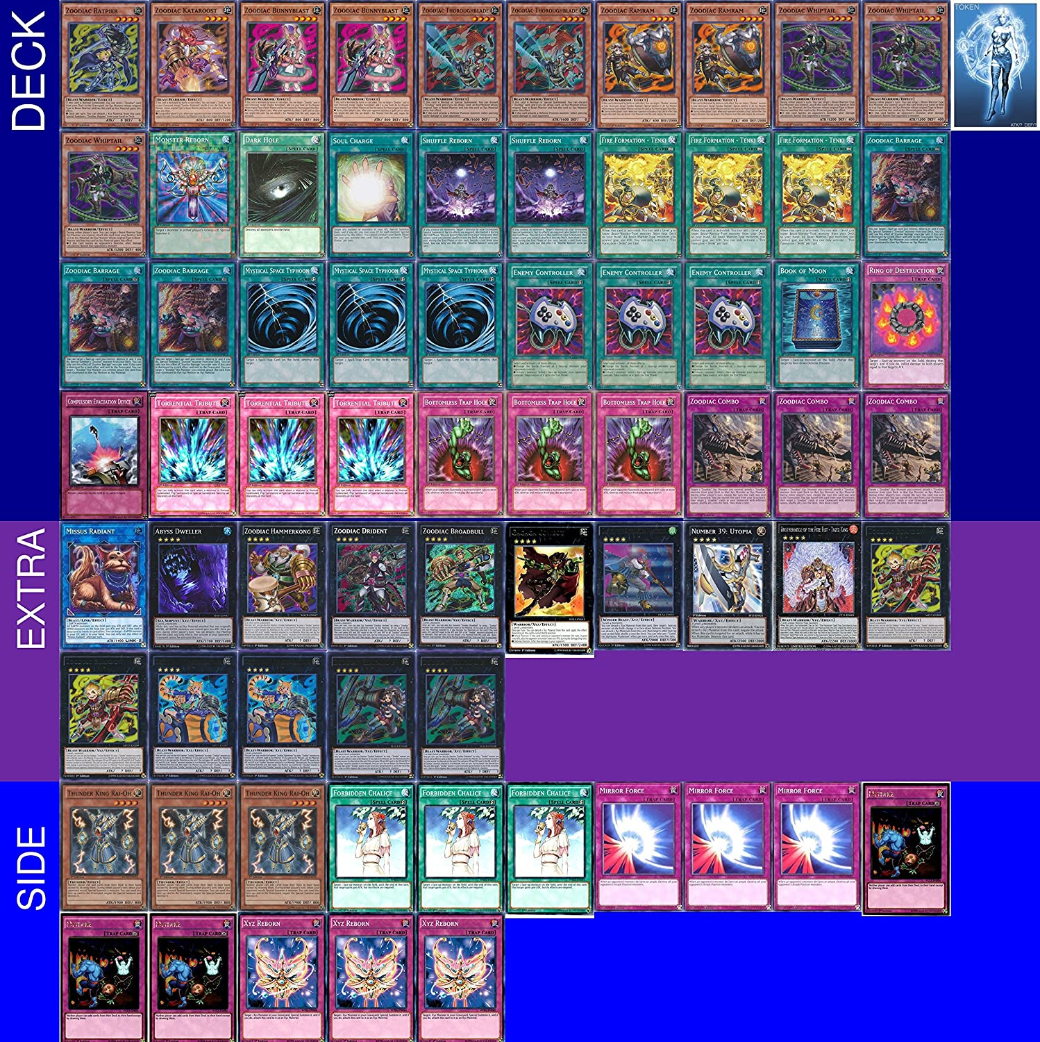 Amazon com: YUGIOH Zoodiac Deck with Complete Extra Deck