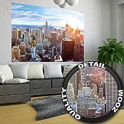 great-art Poster New York City Skyline - 140 x 100 cm Wandposter Fotoposter NYC Wandbild Amerika USA Manhattan