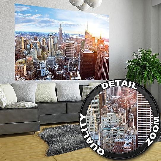 Affiche De New York Skyline - Décoration Murale Coucher De Soleil