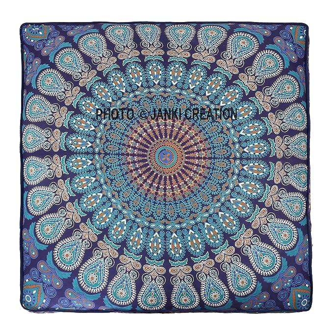 Amazon.com: Exclusivo indio de cuadrado de pavo real Mandala ...