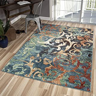 """product image for Orian Rugs Spoleto Nepal Scroll Area Rug, 5'3"""" x 7'6"""", Multicolor"""