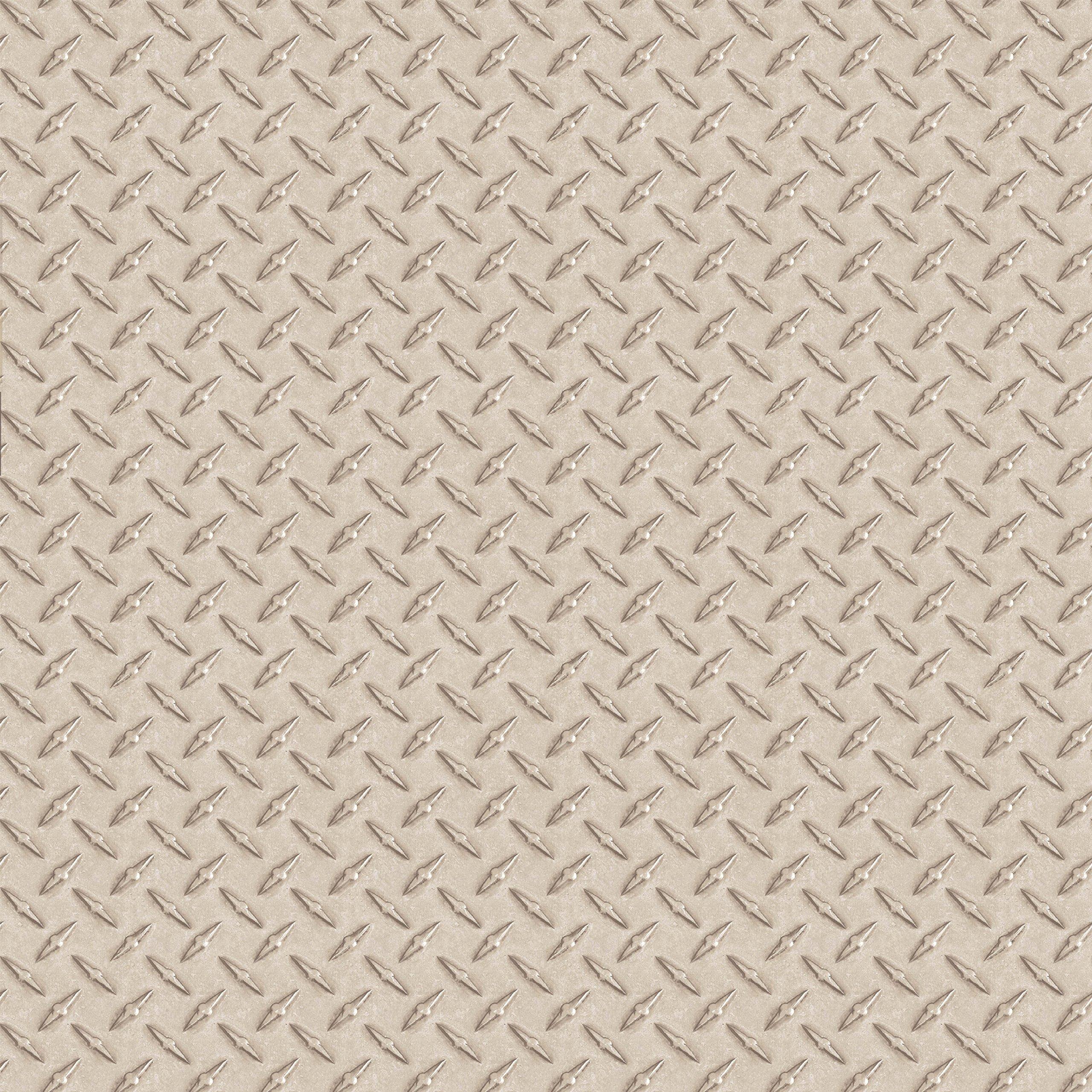 Chesapeake BYR95652 Gridlock Faux Diamond Plate Wallpaper, Grey