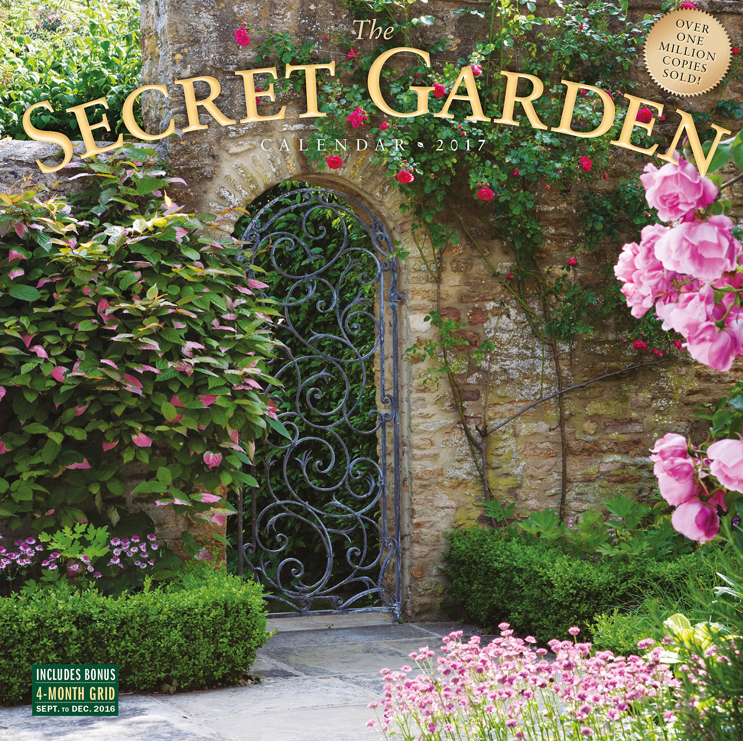 the secret garden wall calendar 2017 workman publishing 7432117350328 amazoncom books - Garden Wall
